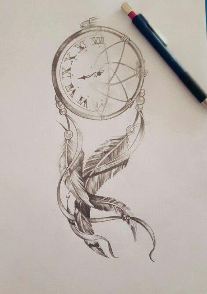Dreamcatcher Clock Compass Travel Tattoo Inspiration Ideas