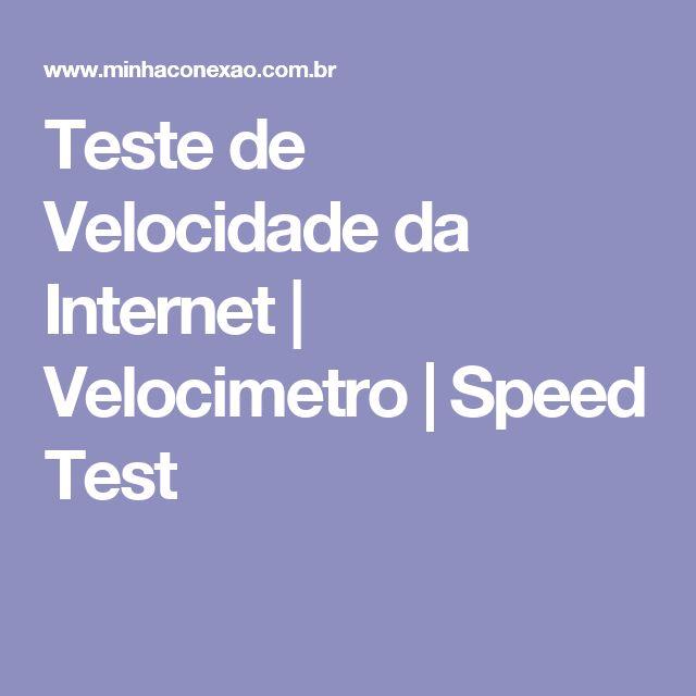 Teste de Velocidade da Internet | Velocimetro | Speed Test