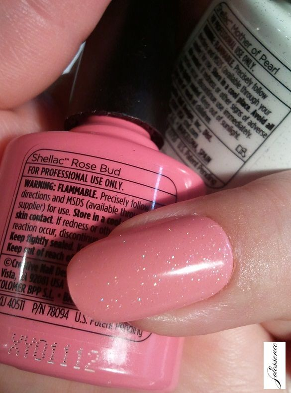 cnd layering shellac - mother of pearl over rose bud   CND ...