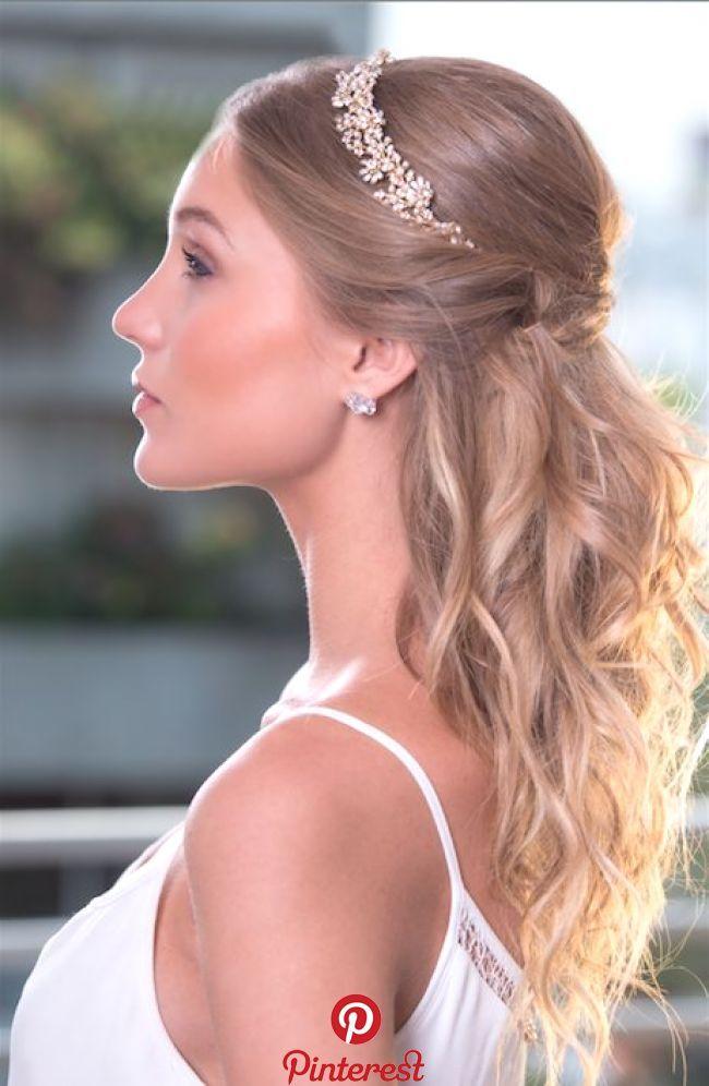 Golden Blossom Stirnband Süß und modern inspiriert von der traditionellen Tiara   – Wedding Hair