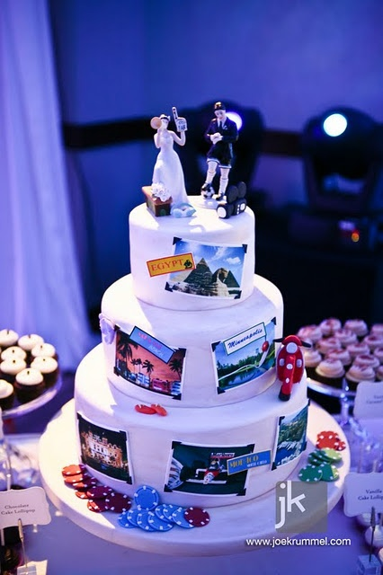 Fun & Unique: Wedding Cake of Travels Together