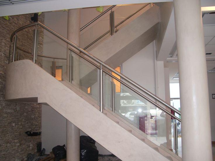escalera revestida con Microcemento 2013