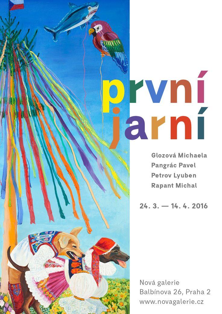 Pozvánka na vernisáž nové výstavy Nové galerie PRVNÍ JARNÍ