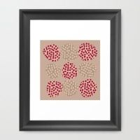 dots in stains Framed Art Print