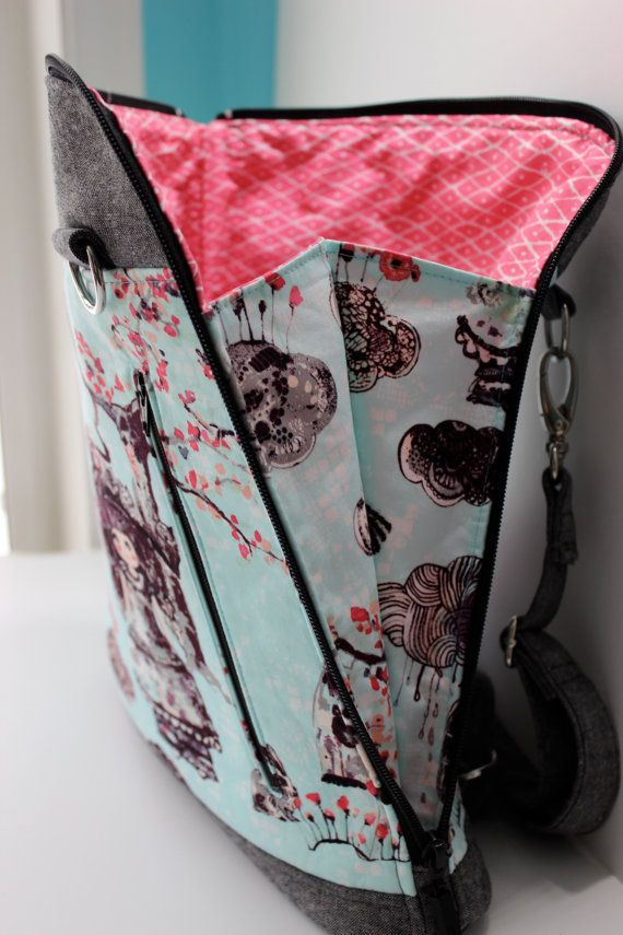 Le sac à dos transformable Calla patron de par BlueCallaPatterns