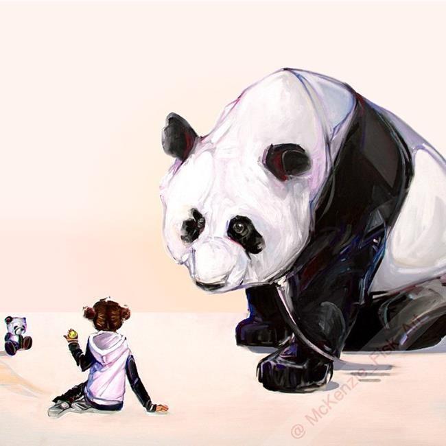 Sanatlı Bi Blog Çocuklar ve Hayvanları Aynı Karede Resmeden Sanatçıdan 17 Sevimli Çalışma 14