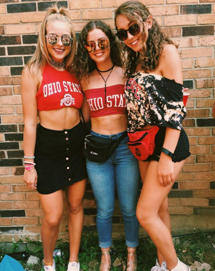 D.I.Y. tshirts are perfect for gameday outfits at Ohio State University!