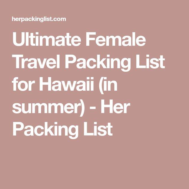 Best 25+ Summer travel packing ideas on Pinterest Travel packing - packing list