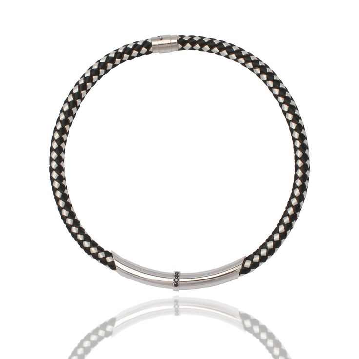 Black and White Deluxe Rope Necklace with black sapphire feature – Kate McCoy