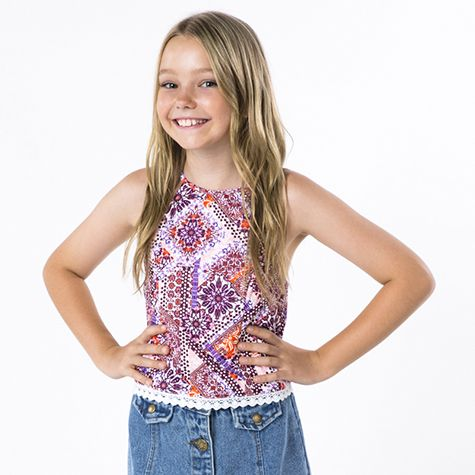 Image for Mooloola Girls Talila Tile Top from City Beach Australia