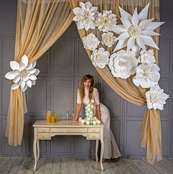 paper wedding decorations large paper flowers flowers paper flower backdrop 6376