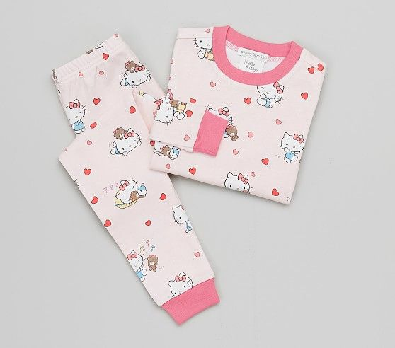 Hello Kitty Tight Fit Pajama 2t Size Pink Hello Kitty
