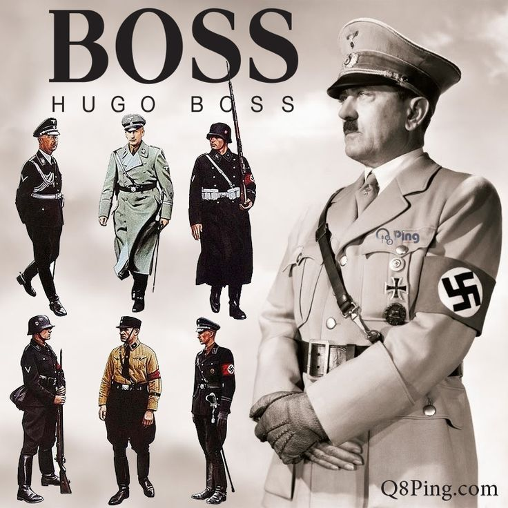 Hugo Boss, the designer for the nazi uniforms in the 30's and 40's.