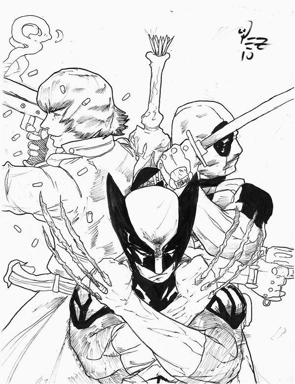 Deadpool And Wolverine Coloring Pages To Print Coloring Pages To Print Lion Coloring Pages Coloring Pages