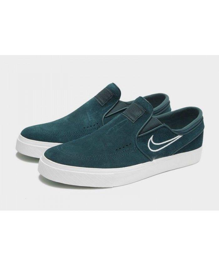 gran inventario tienda oficial los mejores precios Sale Men's Nike SB Stefan Janoski Slip-On Green Sneakers UK Outlet ...