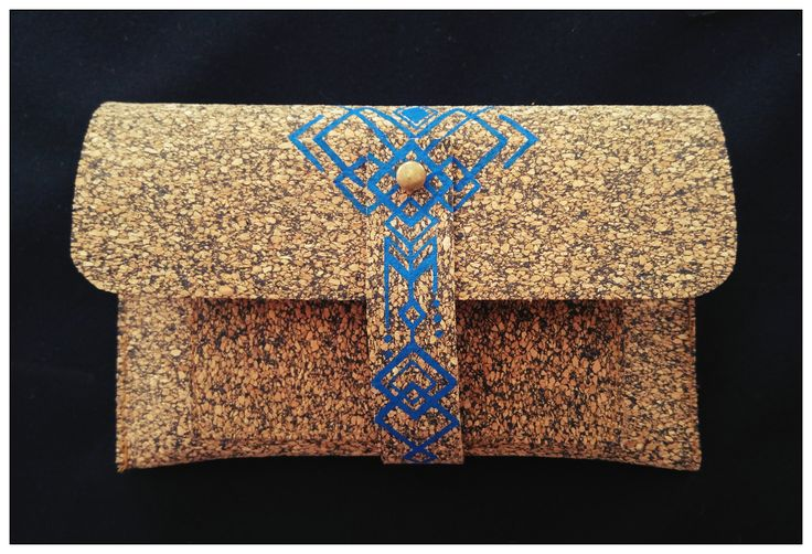 Geometrical Tribal Cork Wallet ~ Hand Drawing **Eco Friendly** ~Favorite my Etsy shop: https://www.etsy.com/il-en/shop/EthnicaDesigns  ~ Follow me on Pinterest: https://www.pinterest.com/diklal/