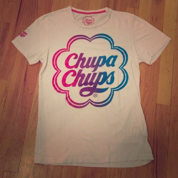 Chupa Chups Tee Chupa Chups tee that is a men's small but closer to a women's large! Pull & Bear Tops Tees - Short Sleeve