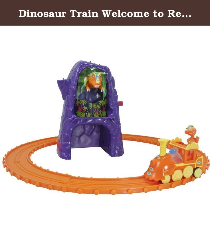 Dinosaur Train Welcome to Rexville Playset. Dinosaur Train Rexville Playset Watch out Buddy! Inspired by Jim Henson's Dinosaur Train, The Welcome to Rexville Playset features big dinosaur action! Press the button on the side of the mountain to hear fun sounds and see Boris pop out and grab Buddy! Watch as Buddy falls down the mountain! This set includes a fun mountain with dino sounds, a push along engine, Buddy collectible figure and track! . Product Features Push button to trigger…