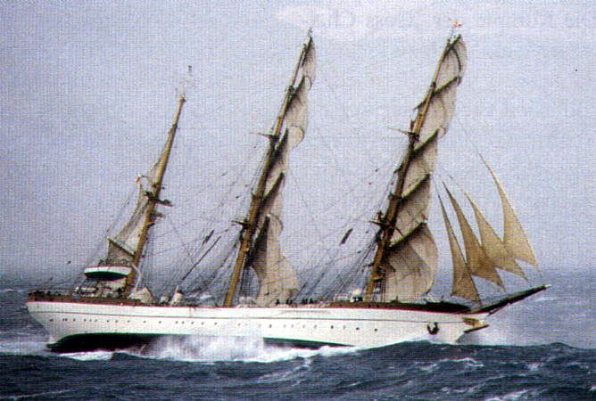 """Gorch Fock"" in storm"