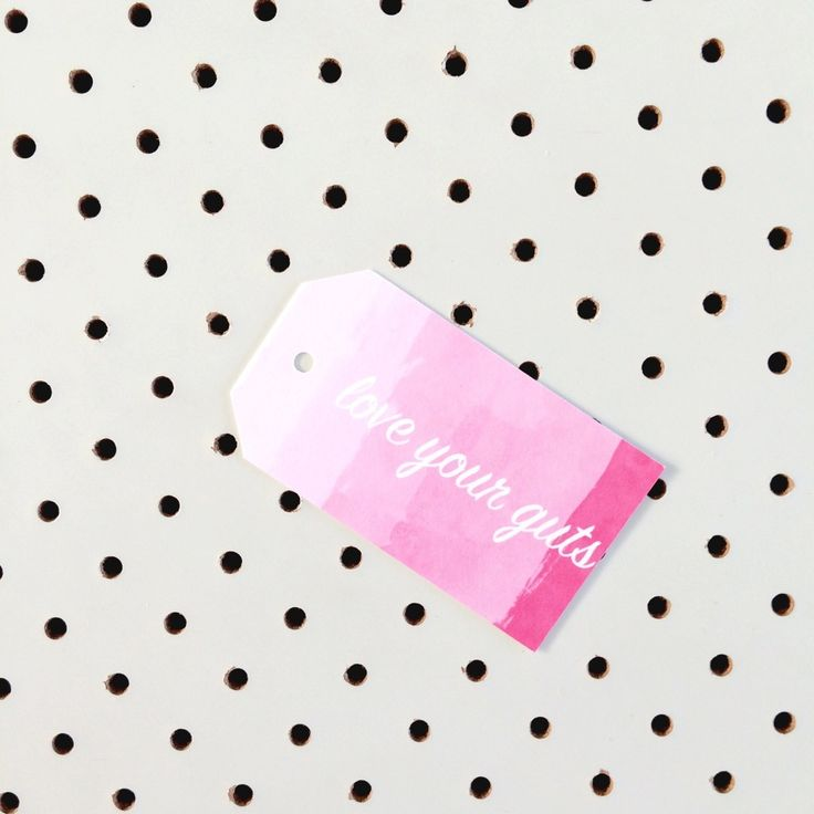 Love your guts pink water colour tag great for any occasion.Printed on high quality felt card stock.