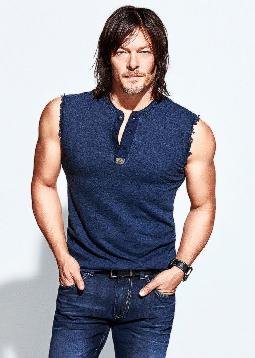 Norman Reedus photographed by Ben Watts for Men's Fitness