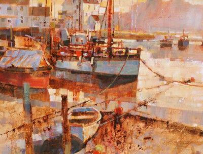 British Artist Chris FORSEY - Mist in the Morning, Woodbridge