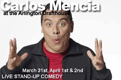 Carlos Mencia Hosts Sand & Steel Comedy Night http://www.sandandsteelfitness.com/carlos-mencia/ #CarlosMencia, #Cheatday, #Events, #SSFCheatDay #Events Sand & Steel Comedy Night Carlos Mencia is performing at Arlington Cinema and Draft House.  Join us on Saturday April 2 at 7:00PM for some drinks, food, and laughs.  Let us know you are coming on Facebook #SSFCheatDay http://www.sandandsteelfitness.com/carlos-mencia/