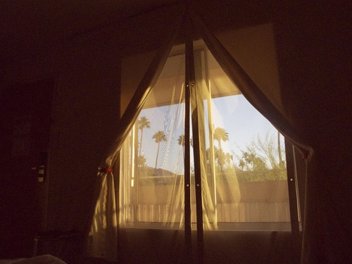 Sunrise / Ace Hotel, Palm Springs.  A still from 'Made in USA', a documentary project created in collaborationwithAmerican Apparel.