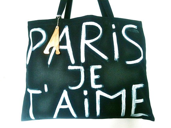 Paris Je T'Aime Bag / My Little French Shop by MyLittleFrenchShop, $89.00