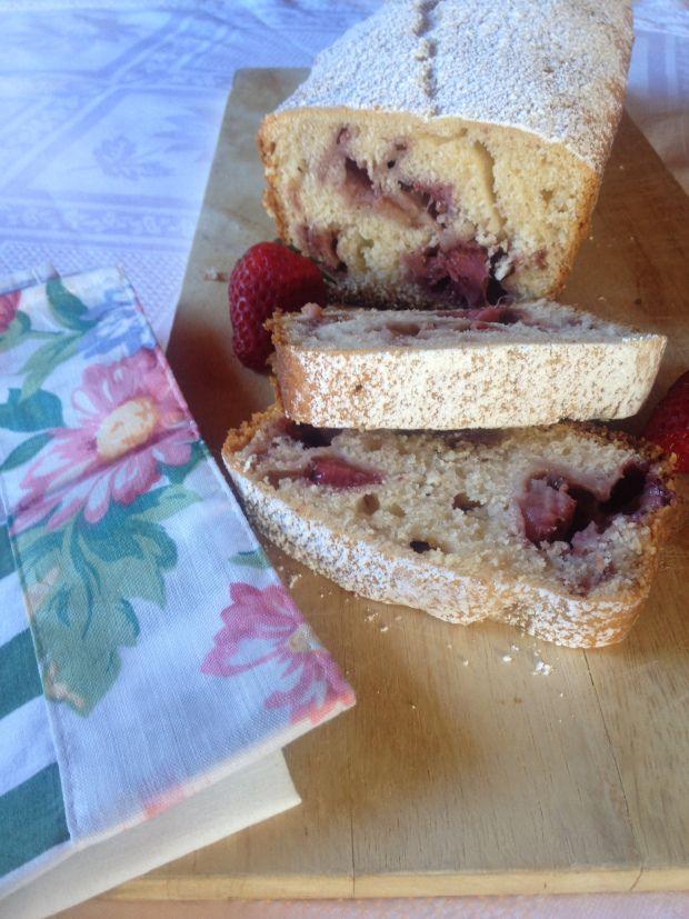 Queque de frutilla / Strawberry loaf