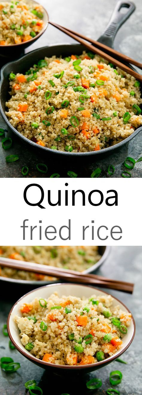 Quinoa Fried Rice. An easy and healthier alternative to traditional fried rice.