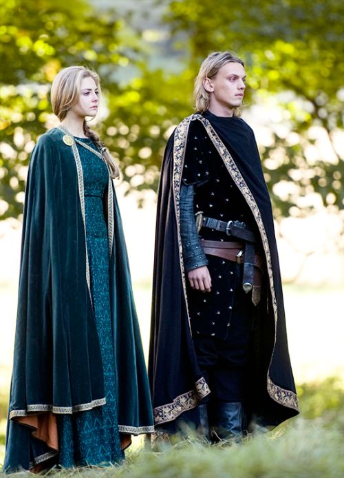 Tamsin Egerton & Jamie Campbell Bower in 'Camelot' (2011).
