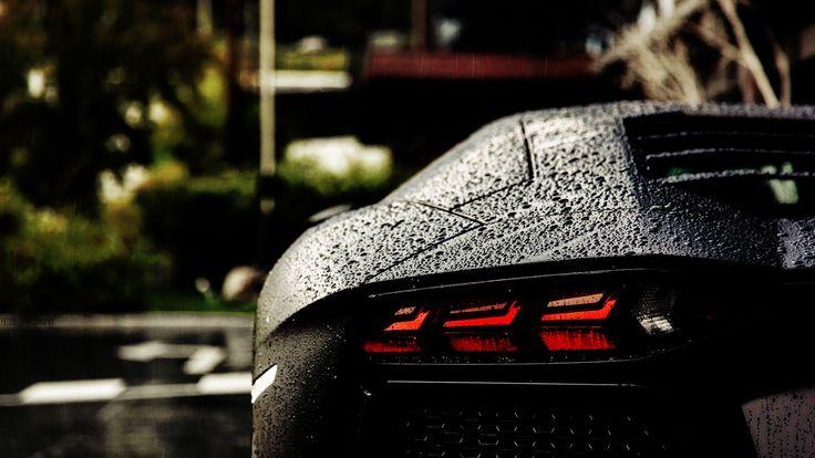 General 1920x1080 Lamborghini Aventador Lamborghini water drops