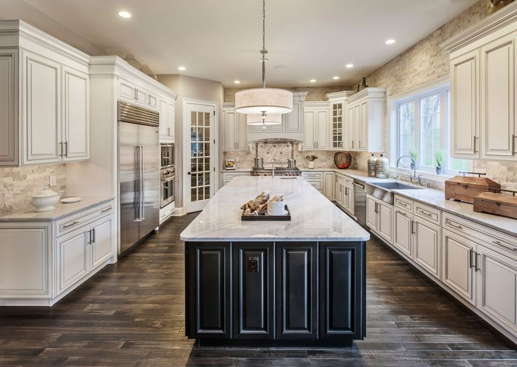 photo courtesy of toll brothers featuring status pendants - House Designs Kitchen