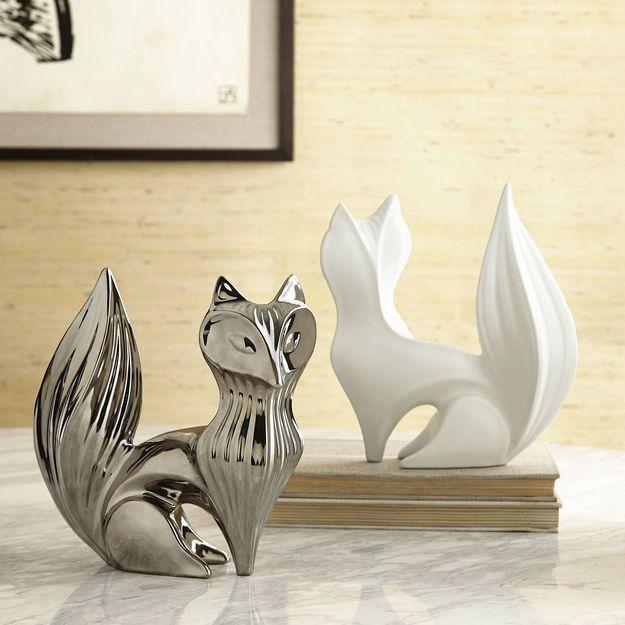 Decorative Objects - Silver Fox Ceramic Objet