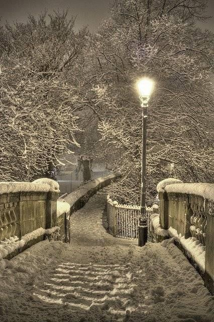 Winter Night in Chester, England. Reminds me of the lamppost in the Lion the witch and the wardrobe!