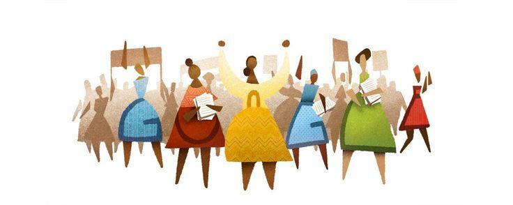 60 aniversario de la Marcha de las Mujeres, Día nacional de la Mujer en Sudáfrica. Doodleando, Los Logos de Google