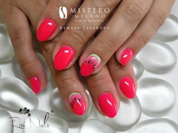 #nails #nailart #fruitynails #fullcovernails #summernails #nehty #gelovenehty