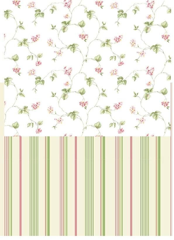 Like these stripes with the varying thicknesses and colors! But with the floral intermix somehow. In their own vine down? Like in the Blue example above?