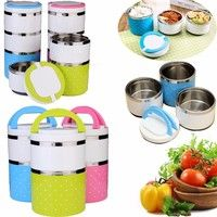 Wish | Stackable Multilayer Stainless Steel Insulated Thermal Lunch Box Bento Picnic Storage Mess Tableware For Students Outdoor Camping