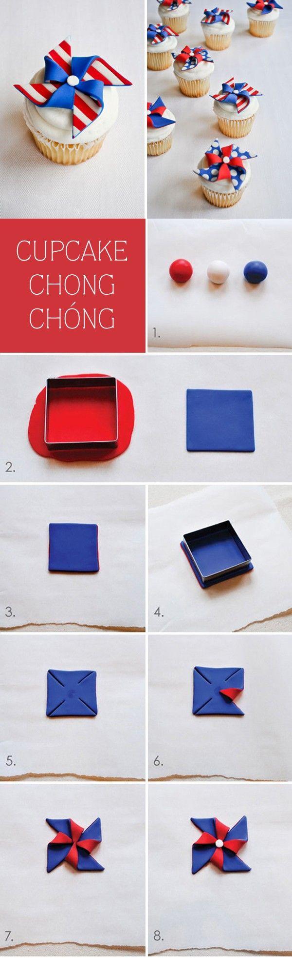 Những cách trang trí cupcake độc đáo từ fondant 2