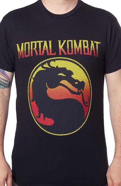 Mortal Kombat Logo T-Shirt Artfully designed and illustrated this shirt features the video game logo.  Great addition to your men's fashion collection.