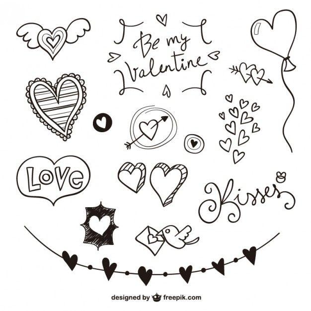 Rabiscos Valentine embalar