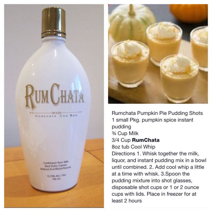 Rumchata Pumpkin Pudding Shots