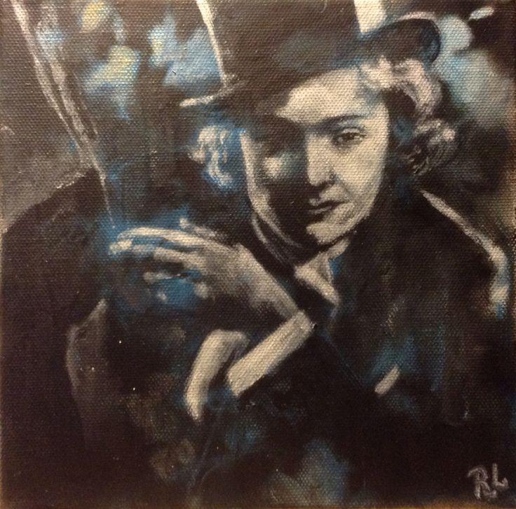 #marlene dietrich#20x20#acrylic,alkyd#canvas#rithva.dk