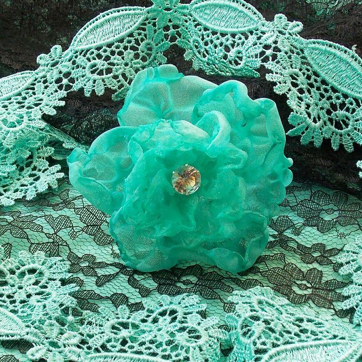 Hair Pin. Fabric Flower