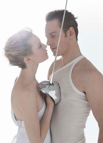 Mia Wasikowska and Michael Fassbender, by Jean-Baptiste Mondino