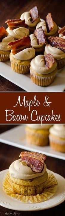 Maple & Bacon Cupcak Maple & Bacon Cupcakes recipe. It...  Maple & Bacon Cupcak Maple & Bacon Cupcakes recipe. It doesnt get much better than candied bacon and maple. These cupcakes are easy to make and are. a copycat recipe from Epcot Disneyworld! #bacon #disney Recipe : http://ift.tt/1hGiZgA And @ItsNutella  http://ift.tt/2v8iUYW