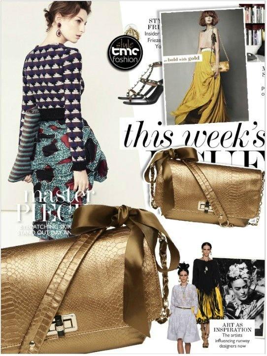 TMC Fashion Women Python Retro Handbag Shoulder Golden Chain Cross Messenger Bag kors handbags mk bag high quality...