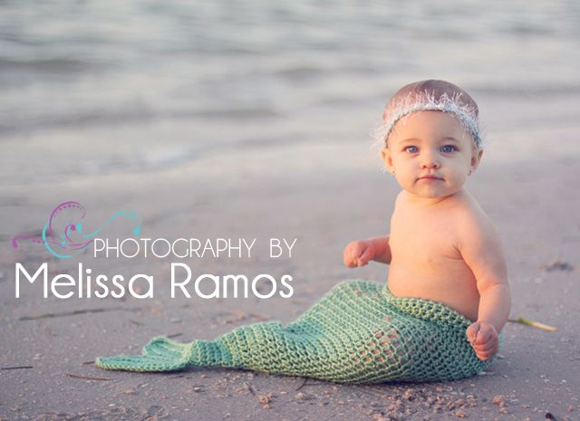 My daughter, the cutest little mermaid baby I've ever seen! Beach photography in Florida